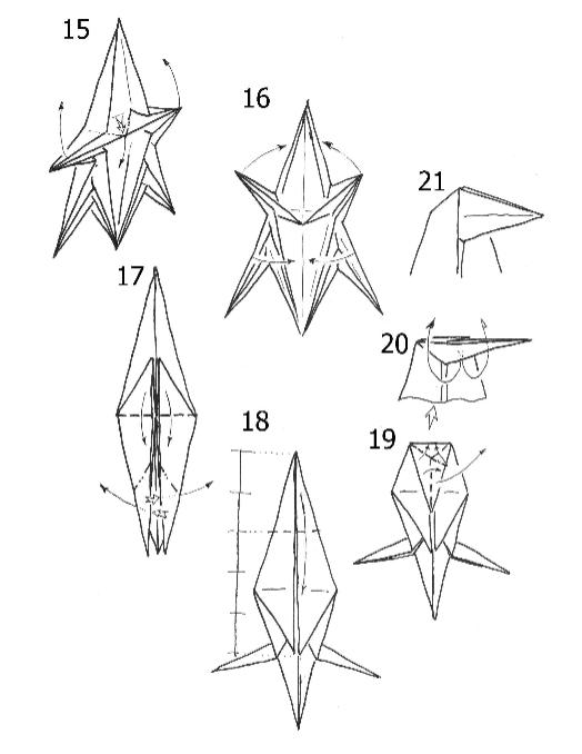 Модульное оригами конь схема сборки фото 474