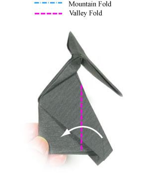 Схема оригами сидячего кота