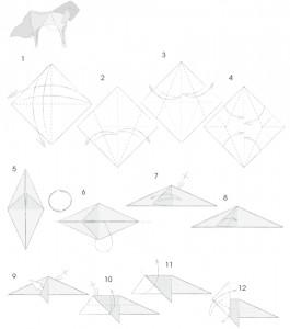 Модульное оригами конь схема сборки фото 39