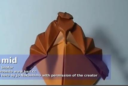 орёл оригами. Видео схема.