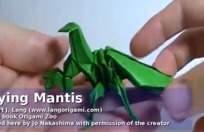 Богомол оригами. Видео схема.  Из Бумаги - Mozilla Firefox