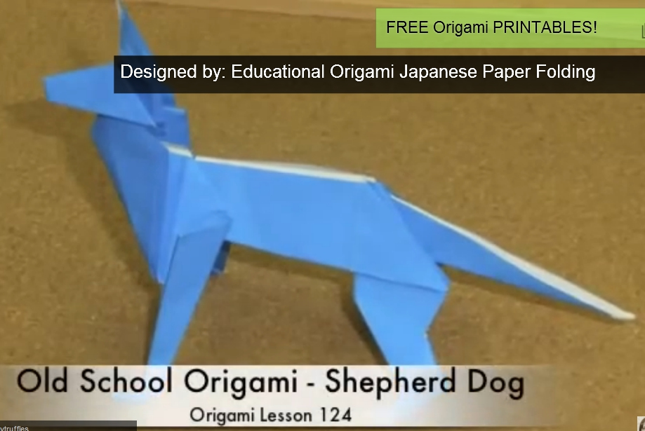 ▶ Daily Origami 124 - Old School Origami - Shepherd Dog - YouTube - Mozilla Firefox