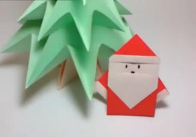 Дед Мороз оригами. Видео схема.  Из Бумаги - Mozilla Firefox
