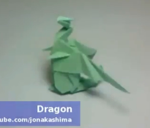 Дракон оригами. Видео схема.  Из Бумаги - Mozilla Firefox