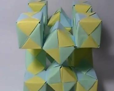 Движущиеся кубики оригами 2. Видео схема.  Из Бумаги - Mozilla Firefox