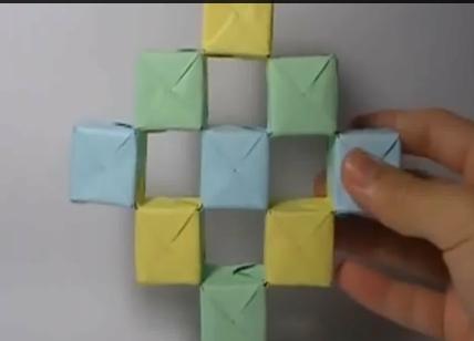 Движущиеся кубики оригами. Видео схема.  Из Бумаги - Mozilla Firefox