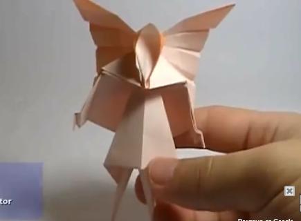Фея оригами. Видео схема.