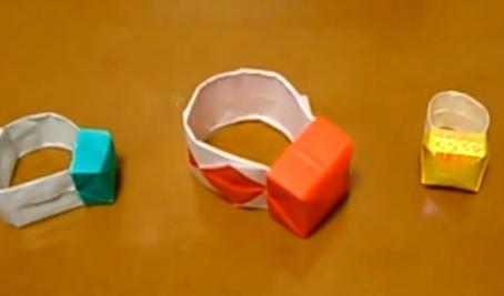 Колечко оригами. Видео схема.