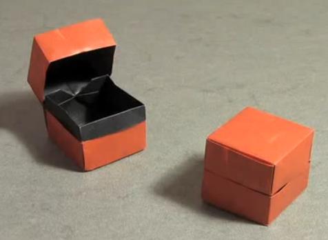Коробка из бумаги. Видео инструкция.  Из Бумаги - Mozilla Firefox