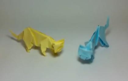 Кот оригами. Видео схема.  Из Бумаги - Mozilla Firefox