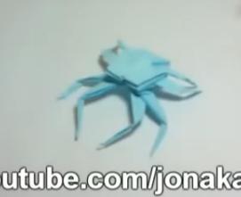 Краб-паук оригами. Видео схема.  Из Бумаги - Mozilla Firefox