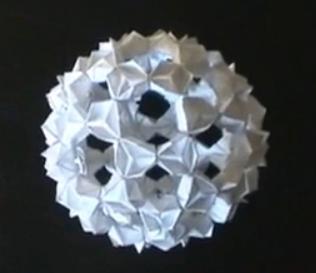 Кусудама из треугольных модулей. Видео схема  Из Бумаги - Mozilla Firefox