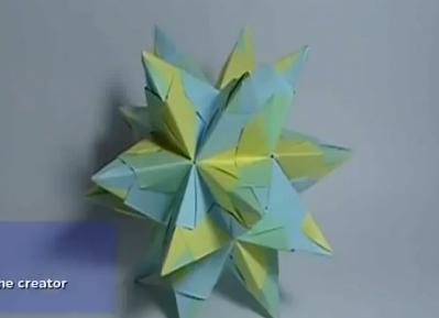 Кусудама. Звезда баскетты. Видео схема.  Из Бумаги - Mozilla Firefox