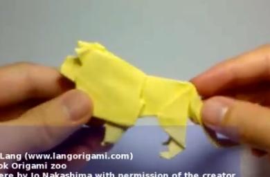 Лев оригами. Видео схема.  Из Бумаги - Mozilla Firefox