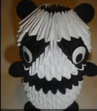 Модульное оригами панда. Видео схема.  Из Бумаги - Mozilla Firefox