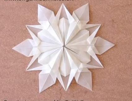 Новогодняя снежинка из бумаги. Видео урок.  Из Бумаги - Mozilla Firefox