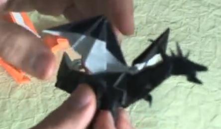 Огнедышащий дракон оригами. Видео схема.  Из Бумаги - Mozilla Firefox