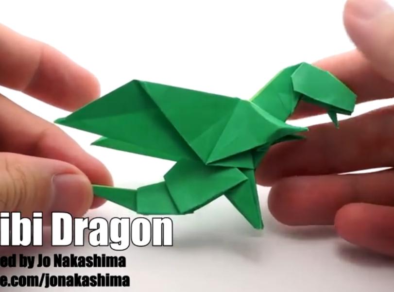 ▶ Origami Chibi Dragon (Jo Nakashima) - YouTube - Mozilla Firefox