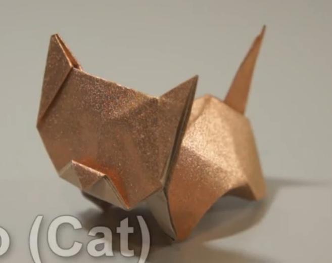 ▶ Origami Neko (cat) (Jo Nakashima) - remake - YouTube - Mozilla Firefox