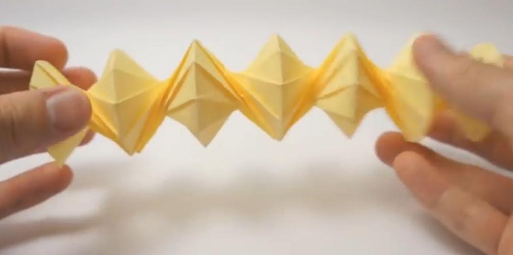 Спираль оригами. Видео схема.