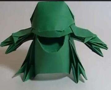 Оригами Warai. Видео схема.  Из Бумаги - Mozilla Firefox