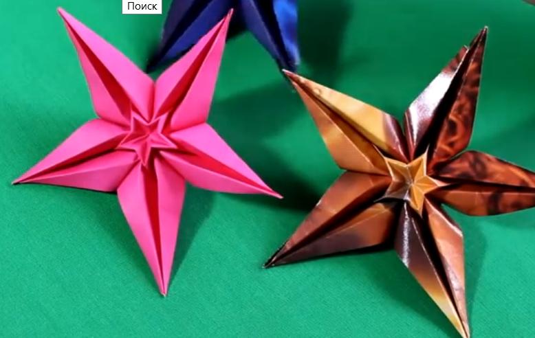 ▶ Оригами цветок звезда - YouTube - Mozilla Firefox