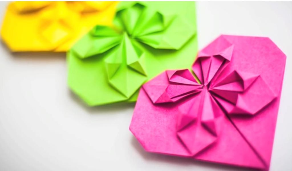 Сердце закладка оригами Heart