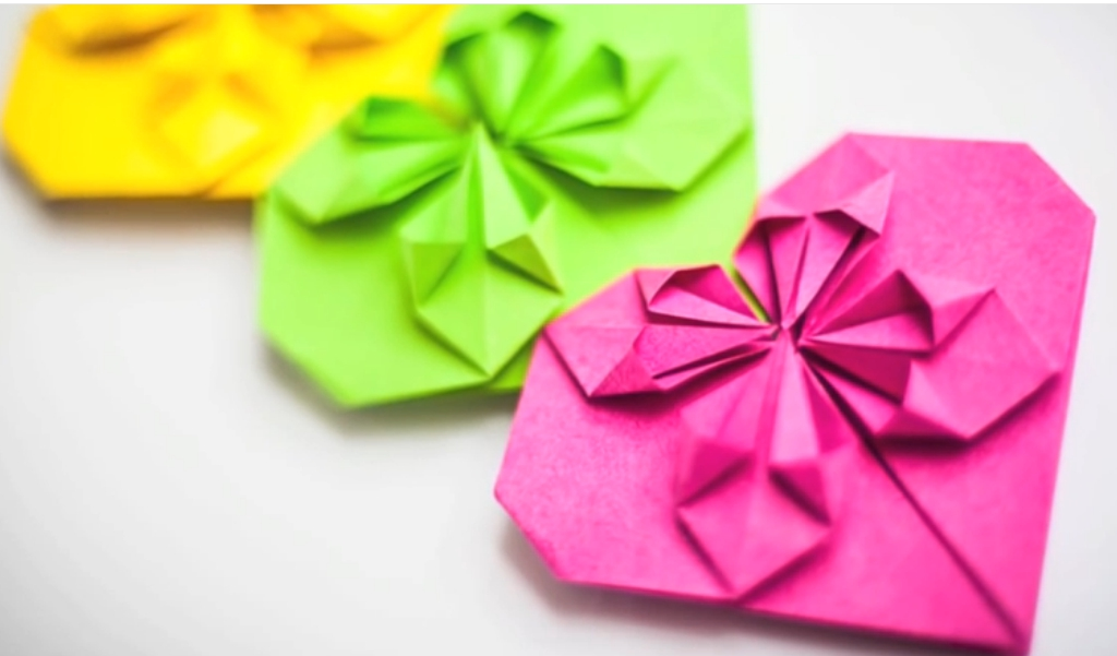 ▶ Оригами. Origami. Сердце закладка оригами  Heart bookmark origami 折り紙, 종이 접기 - YouTube - Mozilla Firefox