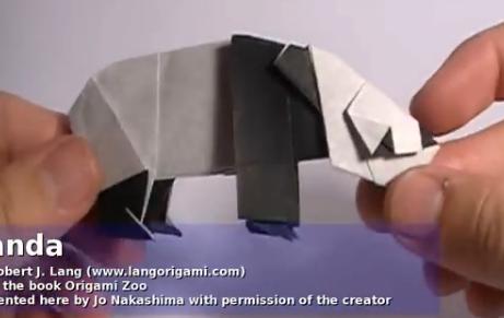 Панда оригами. Видео схема.  Из Бумаги - Mozilla Firefox