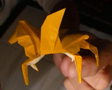 Пегас оригами. Видео схема.