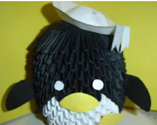 Пингвин. Видео схема.  Из Бумаги - Mozilla Firefox