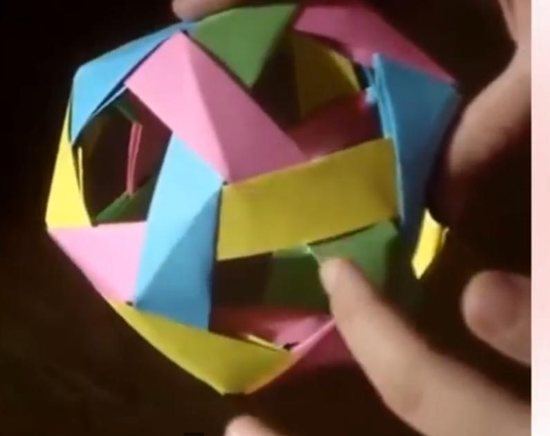 ▶ Поделки из бумаги Додекаэдр оригами - YouTube - Mozilla Firefox