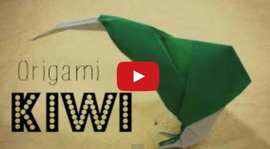 Птица киви оригами. Видео схема.  Из Бумаги - Mozilla Firefox