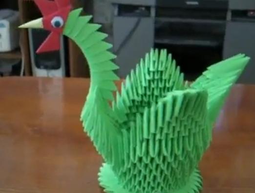 Птица модульное оригами. Видео схема.  Из Бумаги - Mozilla Firefox
