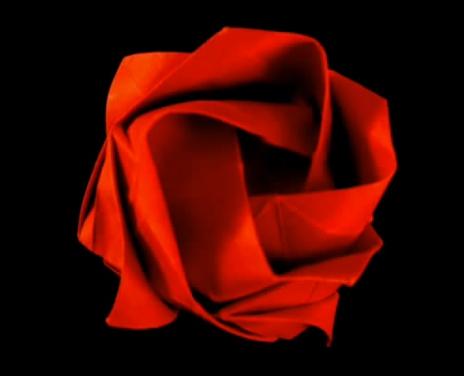 Роза кавасаки оригами.
