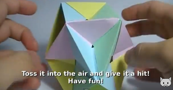 Шар из бабочек оригами. Видео схема.  Из Бумаги - Mozilla Firefox