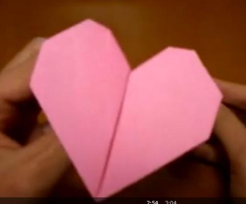 Сердце оригами. Видео схема.  Из Бумаги - Mozilla Firefox