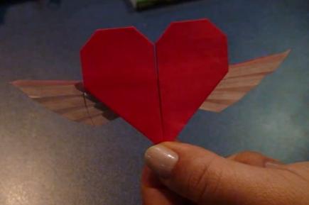 Сердце с крыльями оригами. Видео схема.  Из Бумаги - Mozilla Firefox