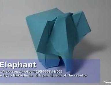 Слоник оригами. Видео схема.  Из Бумаги - Mozilla Firefox