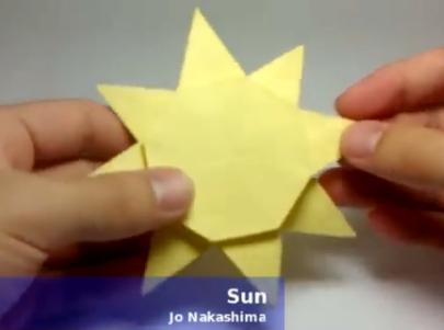Солнце оригами. Видео схема.  Из Бумаги - Mozilla Firefox