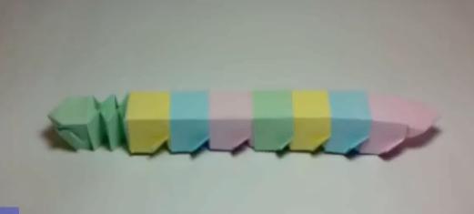 Цветная гусеница оригами. Видео схема.  Из Бумаги - Mozilla Firefox