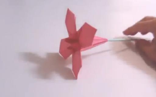 Цветок оригами. Видео схема.  Из Бумаги - Mozilla Firefox