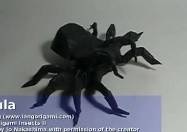 Тарантула оригами. Видео схема.  Из Бумаги - Mozilla Firefox