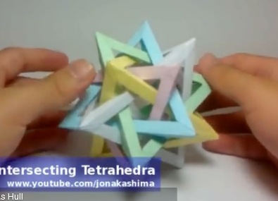 Тетраэдер оригами. Видео схема.  Из Бумаги - Mozilla Firefox