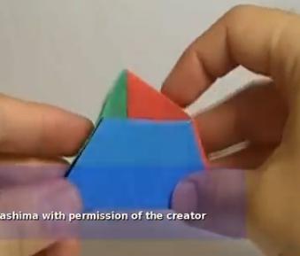 Трёхсторонняя коробка. Видео схема.  Из Бумаги - Mozilla Firefox