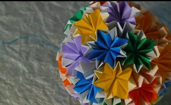 Волшебный шар кусудама. Видео схема.  Из Бумаги - Mozilla Firefox