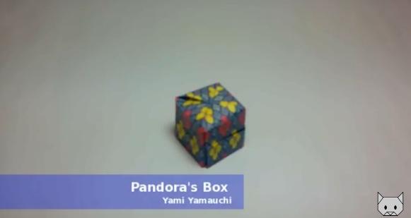 Ящик пандоры оригами. Видео схема.  Из Бумаги - Mozilla Firefox