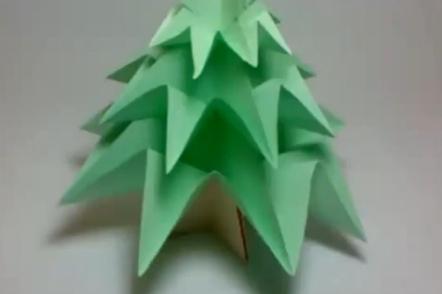 Ёлка оригами. Видео схема.  Из Бумаги - Mozilla Firefox