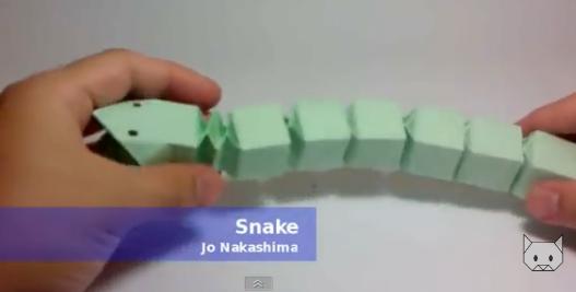 Змея оригами. Видео схема.  Из Бумаги - Mozilla Firefox