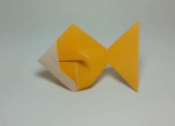 Золотая рыбка оригами. Видео схема.  Из Бумаги - Mozilla Firefox